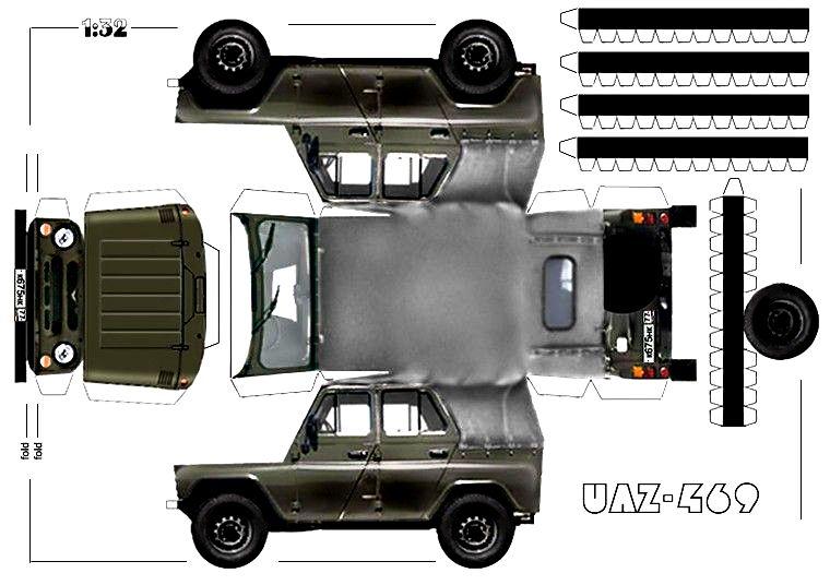 Модели автомобилей для склеивания