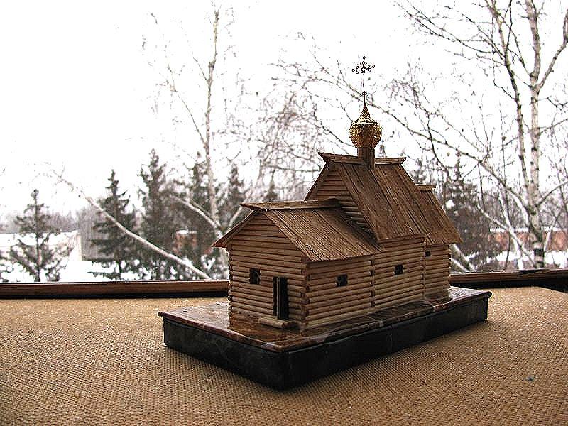 Церковь из спичек схема